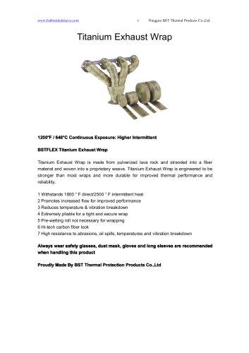 BSTFLEX Titanium Exhaust Wrap heatwrap