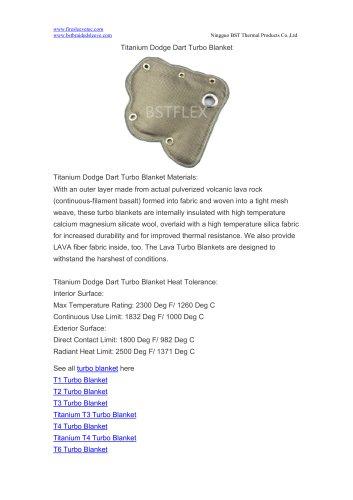 BSTFLEX turbo beanie Titanium Dodge Dart Turbo Blanket