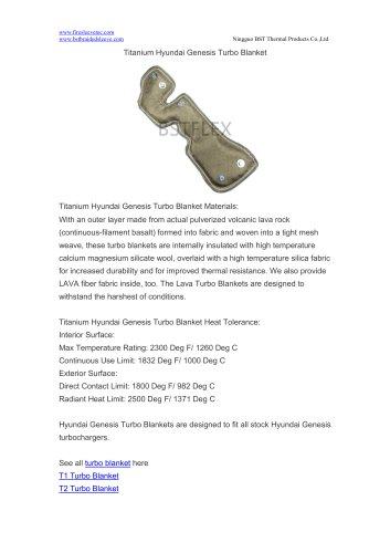 BSTFLEX turbo heat protection Titanium Hyundai Genesis Turbo Blanket
