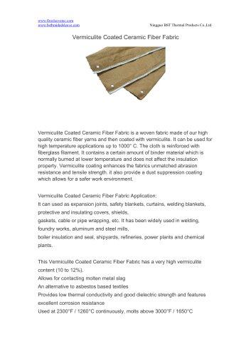 BSTFLEX Vermiculite Coated Ceramic Fiber Fabric for heat protection