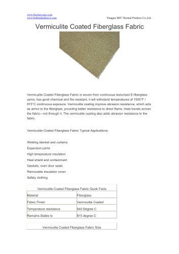 BSTFLEX Vermiculite Coated Fiberglass Fabric for high teperature resistant