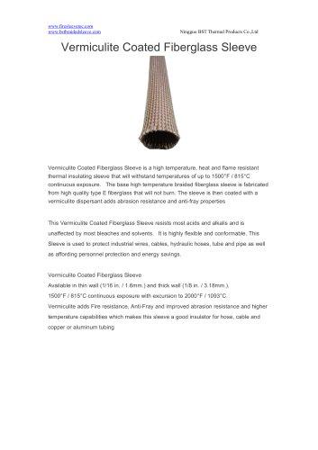 BSTFLEX Vermiculite Coated Fiberglass Sleeve for heat protection
