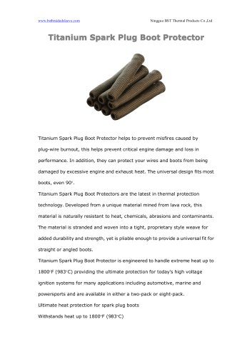 Titanium Spark Plug Boot Protector
