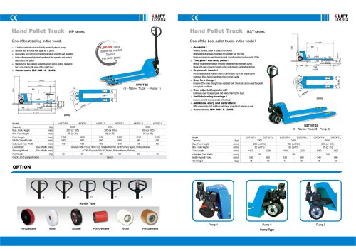 i-Lift/Hu-Lift Brand Hand Pallet Truck HP-T/BST-T for European Market Made in Cambodia