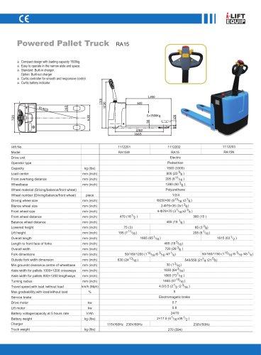 i-Lift/Hu-Lift Powered Pallet Truck RA15