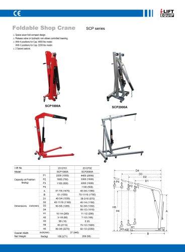 MATERIAL HANDLING EQUIPMENT/I-LIFT/FOLDABLE SHOP CRANE/SCP SERIES