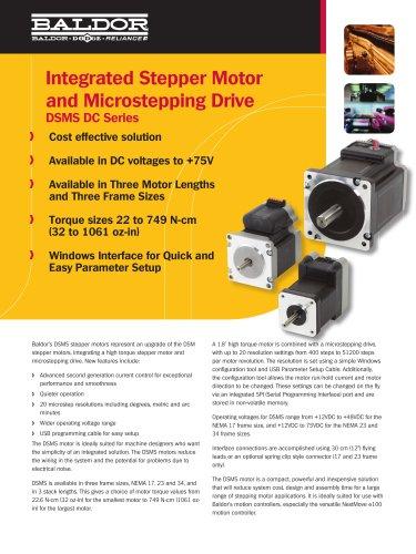 Baldor - DSMS Integrated Stepper Motor and Drive