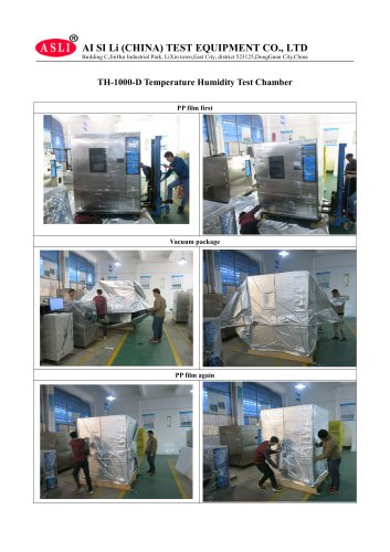 ASLI Brand 1000L Programmable Temperature Humidity Test Chamber Packing