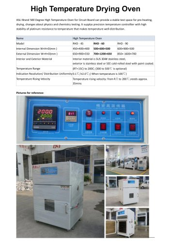 drying oven / for accelerated aging tests / aging / powder coating RHD-60