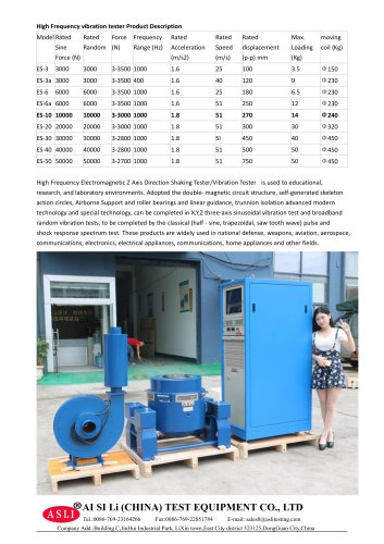 mechanical vibration test system / for semiconductors / electric / variable resonant frequency ES-10