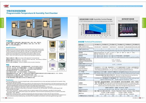Progammable Temperature & Humidity Test Chamber