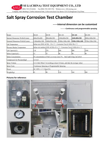 salt spray corrosion test chamber / aging / stress / for frost resistance tests SH-160