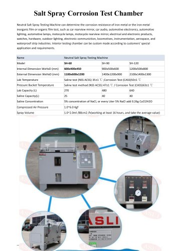 salt spray test cabinet / Kesternich corrosion / salt spray corrosion / environmental SH-60