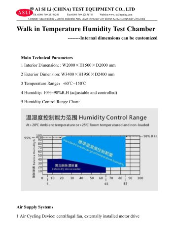 stability test chamber / environmental / humidity and temperature / large capacity THR-6000-E