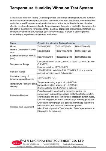 temperature test machine / impact / shock / stability THV-Volume