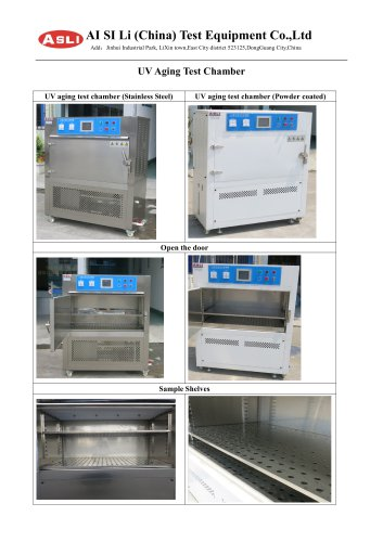 UV resistant Climate testing chamber
