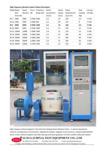 vibration test equipment / electric / shock resistant / for solar cells ES-6