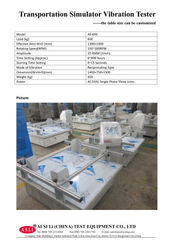 vibration test equipment / for fuel cells / brake / for insulating materials AS-600
