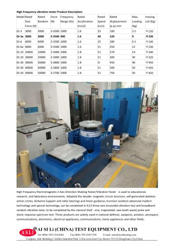 vibration tester / frequency / battery / for packaging ES-3A