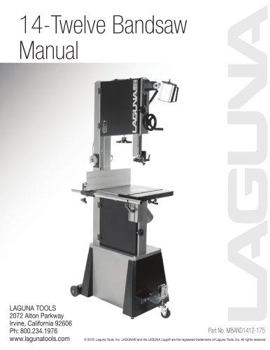 Twelve Bandsaw Manual