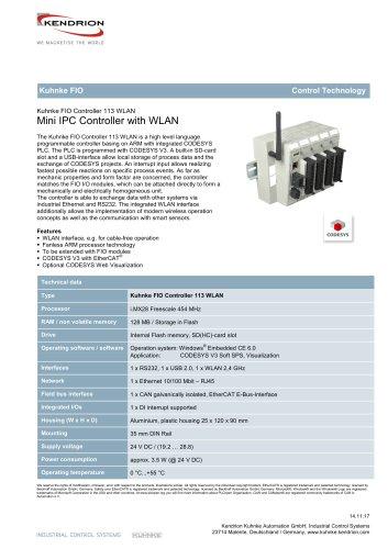 Kuhnke FIO Controller 113 WLAN