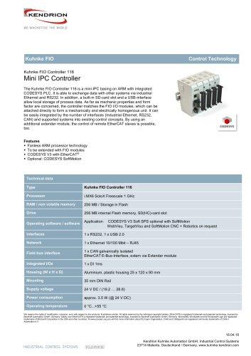Kuhnke FIO Controller 116