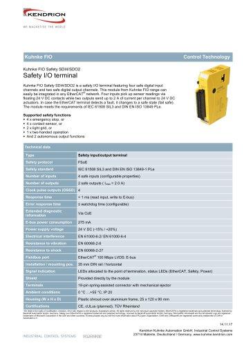 Kuhnke FIO Safety SDI4/SDO2