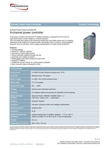 Kuhnke Power Heat Controller, infrared