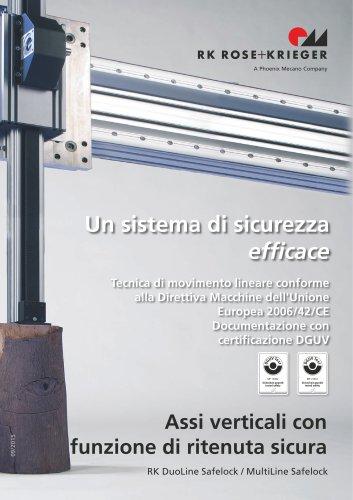 RK Safelock - Assi verticali con funzione di ritenuta sicura
