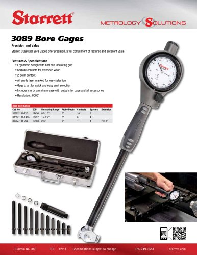 3089 DIAL BORE GAGES