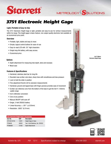 3751 ELECTRONIC HEIGHT GAGE