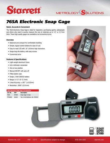 765A Electronic Snap Gage