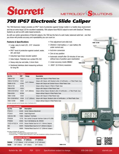 798 IP67 Electronic Slide Caliper