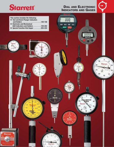 DIAL AND ELECTRONIC INDICATORS AND GAGES