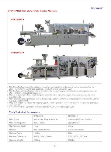 DPP, DPH260H3 alu-pvc-alu blister machine