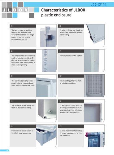 Characteristics of JLBOX plastic enclosure