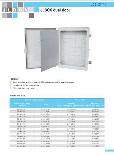 dual door|Double door plastic box|IP67