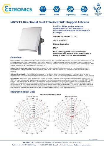 Dual Polarised Directional Hazardous Area Antenna iANT219