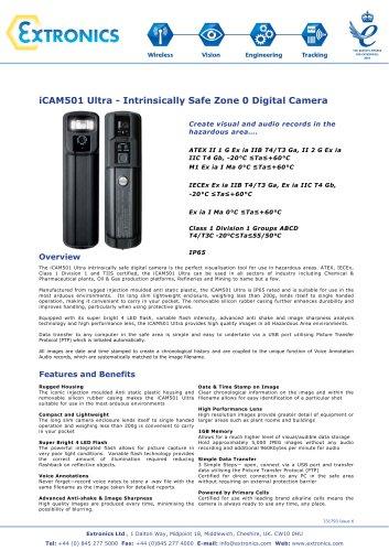 Intrinsically Safe Digital Camera iCAM501 Ultra