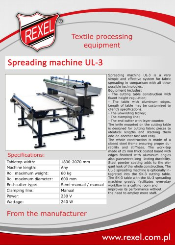 Textile end cutters, unwinding devices REXEL