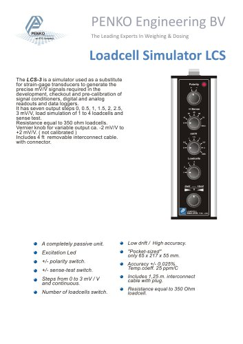 Type Load Cell Simulator LCS-3