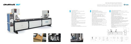 Automatic Double Corner PVC Profile Welding Machine OMRMS 112