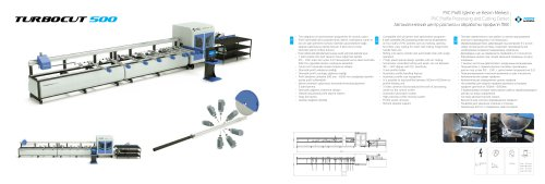 PVC Profile Processing and Cutting Center TURBOCUT 500