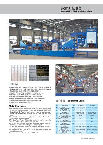 Zhongji Assembling 3D Panel Machine With CE