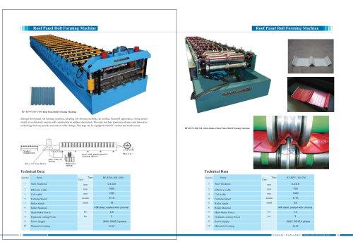Zhongji Roof Panel Roll Forming Machine