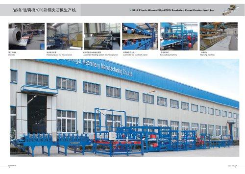 Zhongji SP-9 Z-Lock Mineral wool/EPS sandwich panel machine With CE