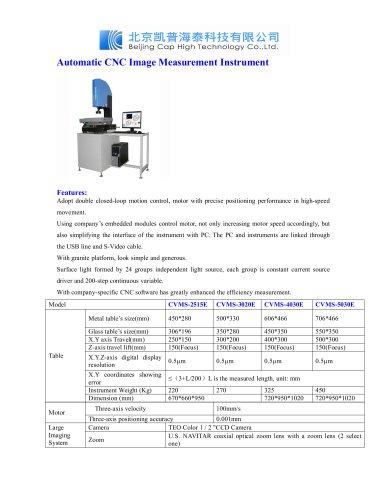 Automatic CNC Image Measurement Instrument