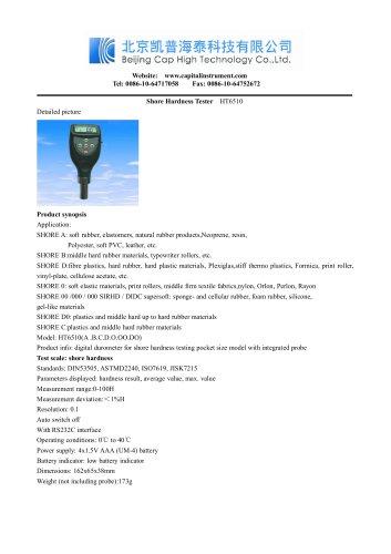 Shore Hardness Tester HT6510