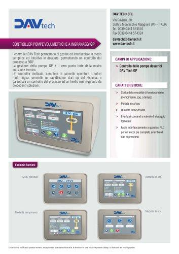 Datasheet - Controller Pompe Volumetriche ad ingranaggi GP