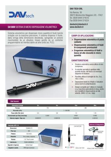 Datasheet - DA1000V Sistema di micro dispensazione volumetrica